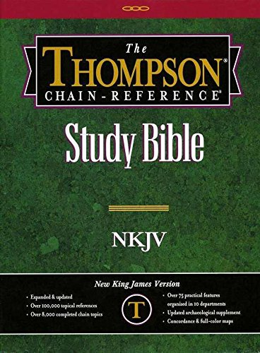 Thompson Chain Reference Bible (Style 310black index) - Regular Size NKJV - Genuine Leather: Frank ...