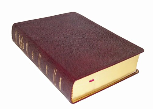 Thompson Chain Reference Bible (Style 310burgundy) - Regular Size NKJV - Genuine Leather: Frank ...