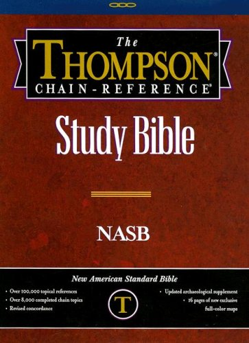 9780887075162: Thompson Chain Reference Bible (Style 610black) - Regular Size NASB - Genuine Leather