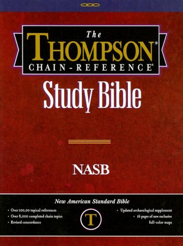 9780887075179: Thompson Chain Reference Bible (Style 610black index) - Regular Size NASB - Genuine Leather