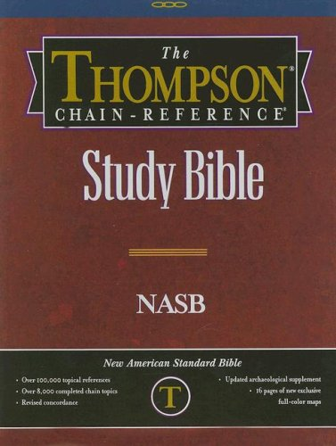 9780887075193: Thompson Chain Reference Bible (Style 610burgundy index) - Regular Size NASB - Genuine Leather