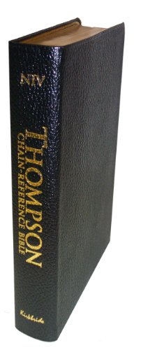 9780887075216: Thompson Chain Reference Bible (Style 810black index) - Regular Size NIV - Genuine Leather