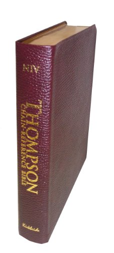 9780887075230: Thompson Chain Reference Bible (Style 810burgundy index) - Regular Size NIV - Genuine Leather