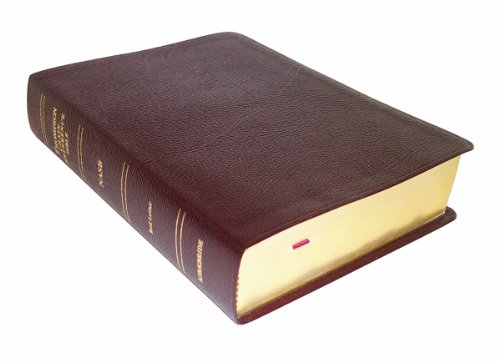 9780887075315: NASB - Burgundy Bonded Leather - Regular Size - Indexed - Thompson Chain Reference Bible (026093)
