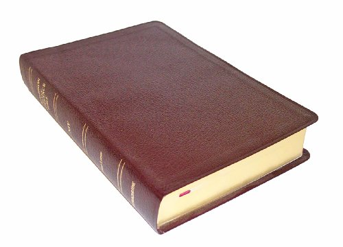9780887075339: Thompson Chain Reference Bible (Style 809burgundy index) - Regular Size NIV - Bonded Leather
