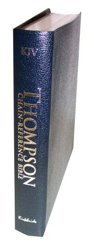 9780887075346: KJV - Blue Bonded Leather - Regular Size - Thompson Chain Reference Bible (015092)