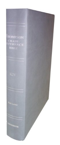 9780887075353: Thompson Chain Reference Bible (Style 507gray) - Regular Size KJV - Deluxe Kirvella