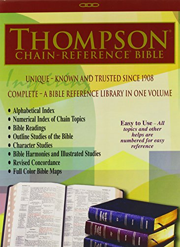 9780887075544: Thompson Chain Reference Bible (Style 807black index) - Regular Size NIV - Deluxe Kirvella