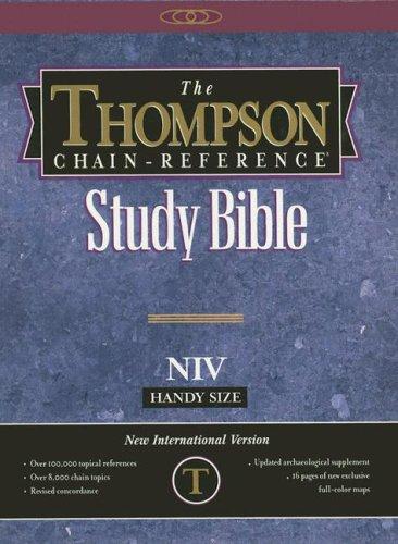 9780887075575: Thompson Chain-Reference Study Bible-NIV-Handy Size Navy/Blue