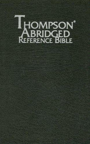 9780887075605: Thompson Abridged Reference Bible (Style 569black) - Handy Size KJV - Bonded Leather