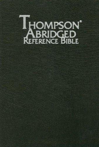 9780887075612: Thompson Abridged Reference Bible (style 569black index) - Handy Size KJV - Bonded Leather