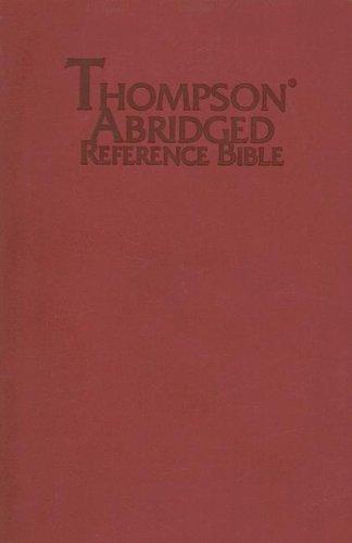 9780887075643: Thompson Abridged Reference Bible-KJV (Red)