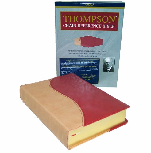 9780887075667: Thompson Chain Reference Bible (KJV, Handy Size, 2-color Tan/Red Deluxe Kirvella Material, Red Letter)