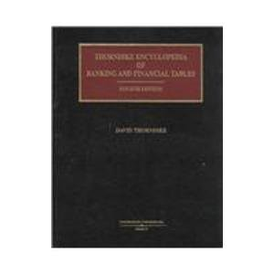 9780887128837: Thorndike Encyclopedia of Banking and Financial Tables
