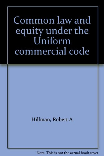 9780887128950: Common law and equity under the Uniform commercial code