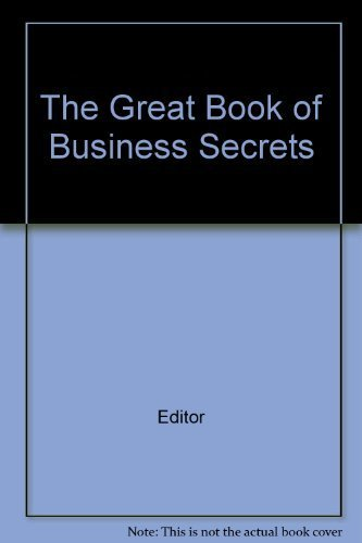 9780887230509: The Great Book of Business Secrets