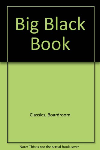 9780887231599: Big Black Book