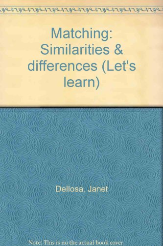 9780887240102: Matching: Similarities & differences (Let's learn)