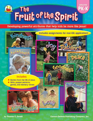 9780887241383: The Fruit of the Spirit, Grades PK - K: Developing powerful attributes that help kids be more like Jesus!