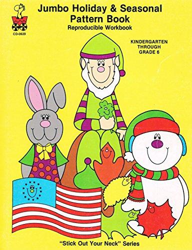 9780887242403: Jumbo Holiday & Seasonal Pattern Book. Reproducible Workbook. Kindergarten Through Grade 6