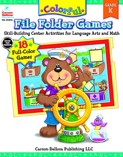 9780887242694: Colorful File Folder Games, Grade K: Skill-Building Center Activities for Language Arts and Math (Colorful Game Books Series)