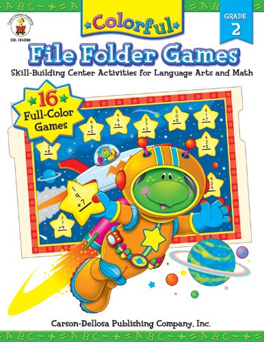 9780887242700: Colorful File Folder Games, Grade 2: Skill-Building Center Activities for Language Arts and Math (Colorful Game Book Series)