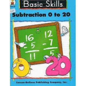 Subtraction 0 to 20: Lynn H. Ruppard, Carson-Dellosa (Editor)