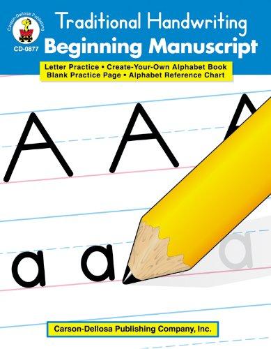 9780887245039: Traditional Handwriting: Beginning Manuscript, Grades K - 2