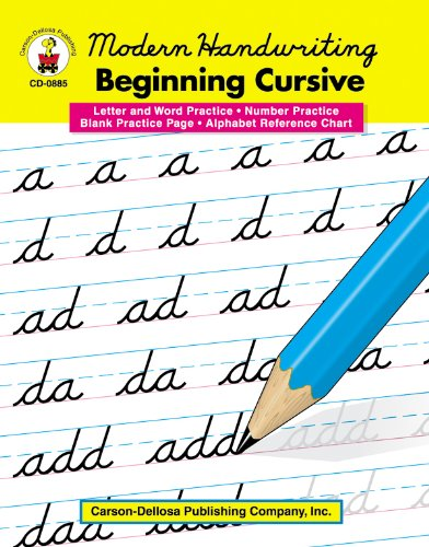 Modern Handwriting: Beginning Cursive, Grades 1 - 3