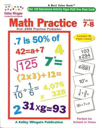 9780887245312: Math Practice 7-8