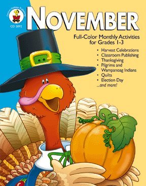 9780887245503: November: Full-Color Monthly Activities for Grades 1-3
