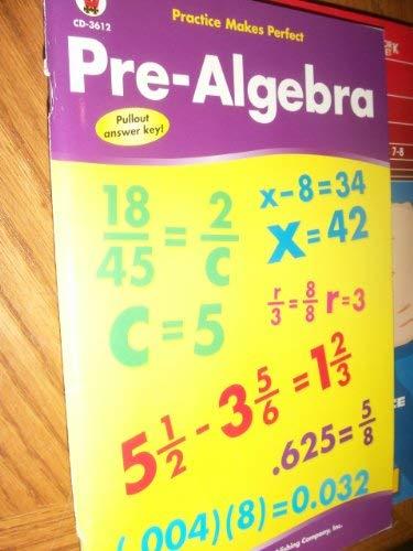 9780887246029: Pre-Algebra