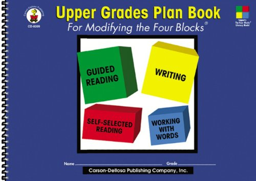 9780887246685: Upper Grades Plan Book for Modifying the Four-Blocks®, Grades 4 - 8