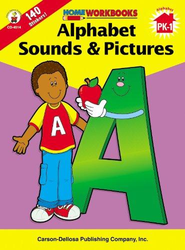9780887247125: Alphabet Sounds & Pictures, Grades PK - 1 (Home Workbooks)