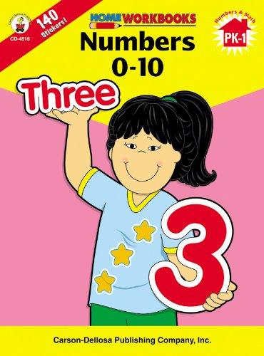 9780887247149: Numbers 0-10, Grades PK - 1 (Home Workbooks)
