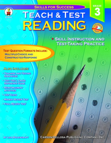9780887247750: Teach & Test Reading Grade 3