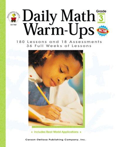 Daily Math Warm-Ups, Grade 3: 180 Lessons: Melissa J. Owen