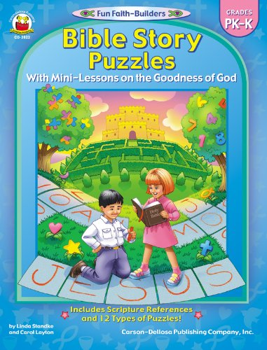 9780887248658: Bible Story Puzzles, Grades PK - K: With Mini-Lessons on the Goodness of God (Fun Faith-Builders)