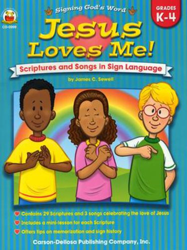 9780887248740: Jesus Loves Me!, Grades K - 4: Scriptures and Songs in Sign Language (Signing God's Word)
