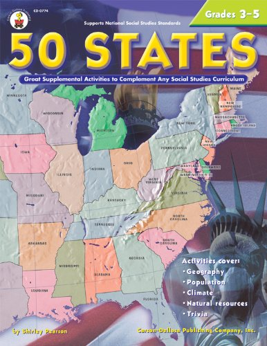 9780887249587: 50 States, Grades 3 - 5: Great Supplemental Activities to Complement Any Social Studies Curriculum
