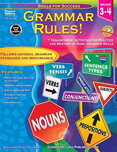 9780887249761: Grammar Rules!, Grades 3 - 4: High-Interest Activities for Practice and Mastery of Basic Grammar Skills (Skills for Success)