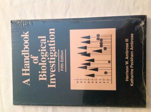 9780887252167: Handbook of Biological Investigation (5th ed.)