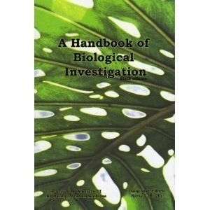 9780887252662: Handbook of Biological Investigation (6th Edition)