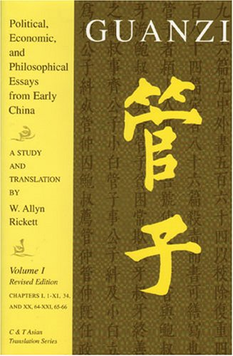 9780887273247: Guanzi: Political, Economic, And Philosophical Essays From Early China - A Study and Translation (C & T Asian Translation Series)