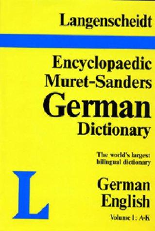 9780887290039: Langenscheidt Encyclopaedic Muret-Sanders German Dictionary (Part 1 A-K) (Muret-Sanders Encyclopedic German Dictionary)