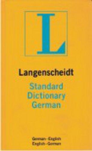 9780887290435: Langenscheidt's Standard German Dictionary: German-English / English-German (German Edition)