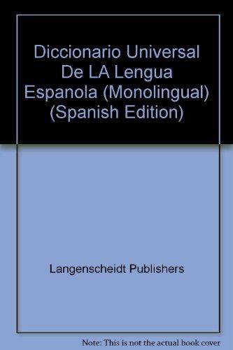 9780887290640: Diccionario Universal De LA Lengua Espanola (Monolingual) (Spanish Edition)