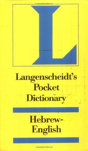 9780887290824: Langenscheidt's Pocket Hebrew Dictionary (English and Hebrew Edition)