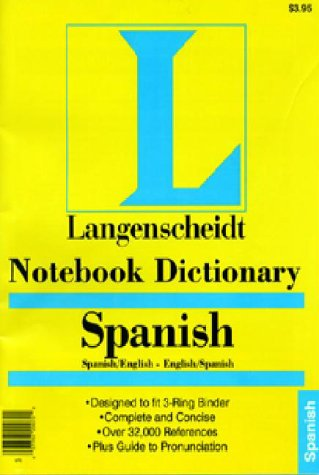 Notebook Dictionary Spanish (Spanish Edition) (0887290957) by Langenscheidt