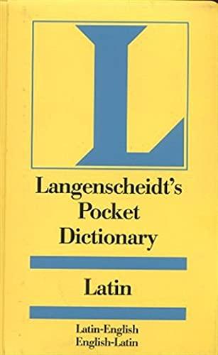 9780887291074: Langenscheidt Pocket Latin Dictionary: Latin-English, English- Latin (Langenscheidt's Pocket Dictionaries) (English and Latin Edition)